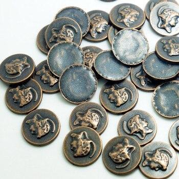 SINUAN Bronze Rivets Hot-Fix Rivet Round 18Mm Fashion Rivets Antique Copper/Gun Metal/Antique Zinc Big Spikes Beads For Clothes