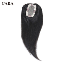 Toupee Hairpiece For Women Brazilian Virgin Hair Straight Human Hair 2.5x4 Clip In Human Hair Extension Natural Black CARA
