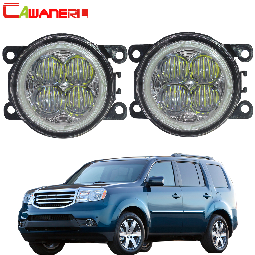 Cawanerl 2 X Car LED Bulb Fog Light Angel Eye Daytime Running Light DRL 12V Styling For Honda Pilot 3.5L V6 2012 2013 2014 2015 led front fog lights for honda cr v pilot 2012 2013 2014 car styling round bumper drl daytime running driving fog lamps
