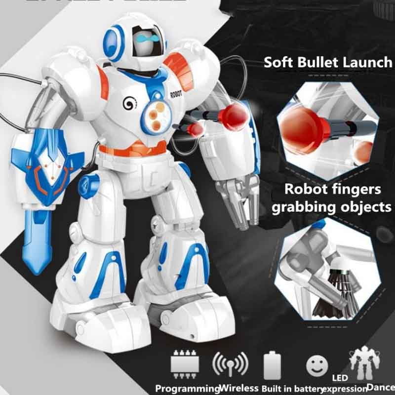 Multi functional Smart RC Robot 2839 2.4G 37CM Dancing and Musical RC Intelligent Robot Electronic Toy Can Shooting Shots