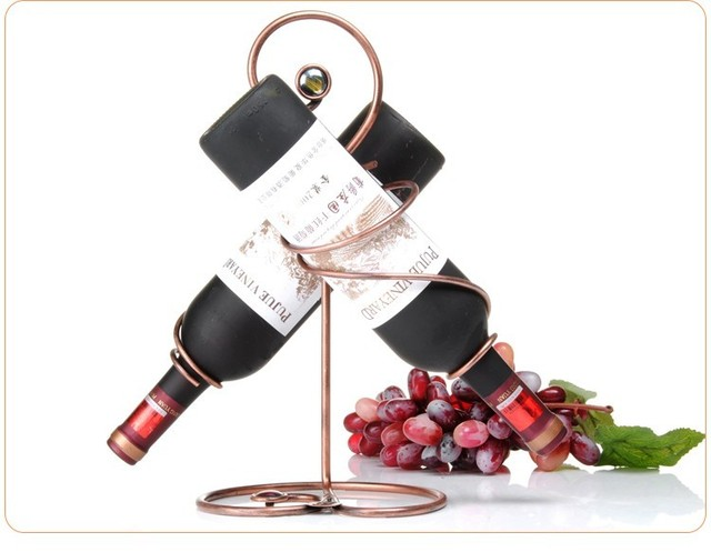 New Unique Europea Antique Iron Wine Bottle Holder Fashion HomeBar Impressive Decorative Wine Bottle Holders