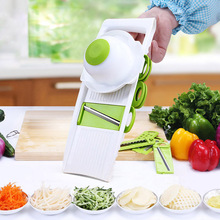 Multifunktionale Gemüse gurkenhobel mit 4 Austauschbar Edelstahl Klingen-Gemüseschneider Schäler Reibe