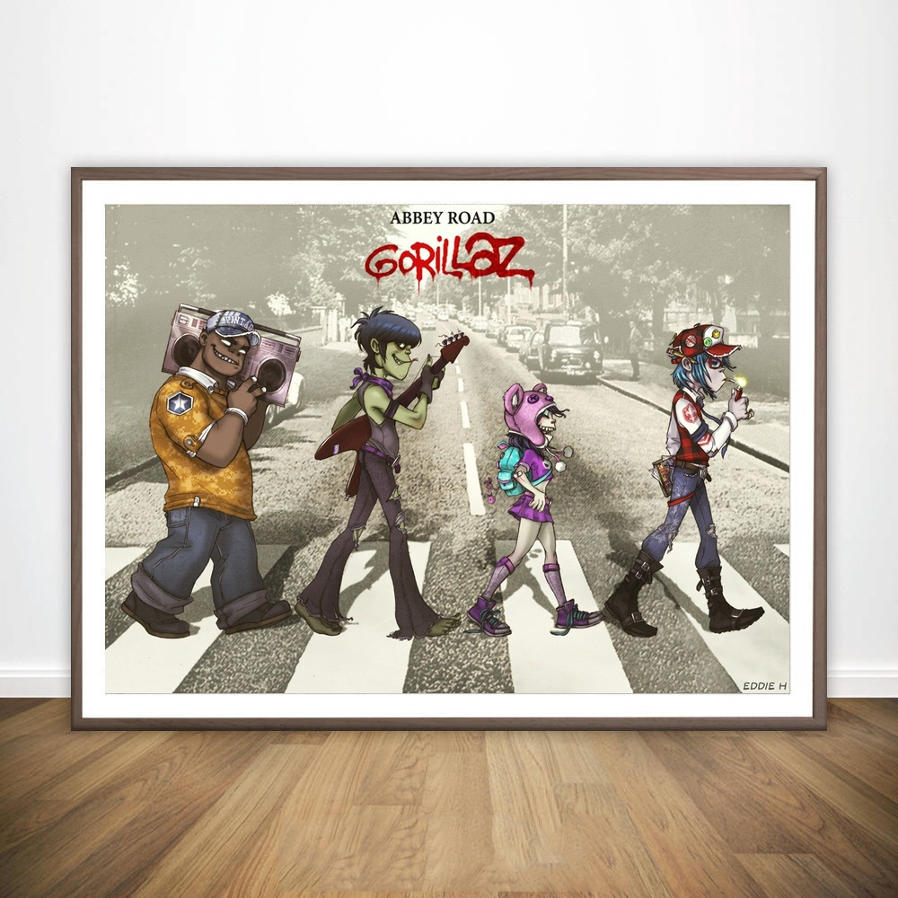 Gorillaz - English Virtual Band Music Music Movie Wall Art Wall Decor Silk Prints Art Poster Paintings for Living Room No Frame image