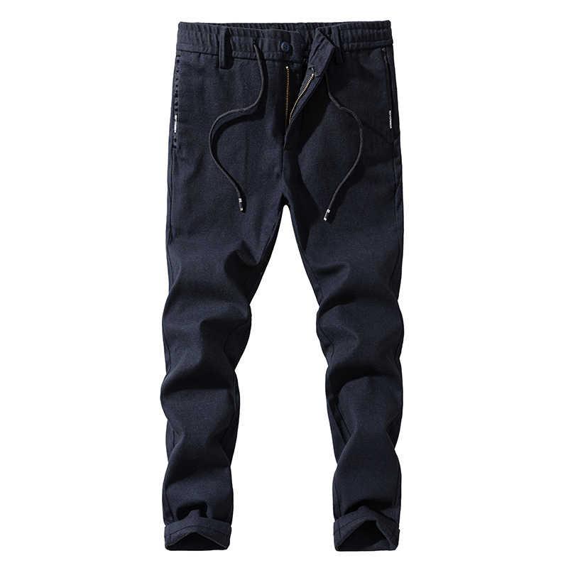 2019 новые модные брендовые мужские брюки высококачественные хлопковые повседневные брюки мужские прямые брюки мужские большие размеры 27 ~ 38 Мужская одежда