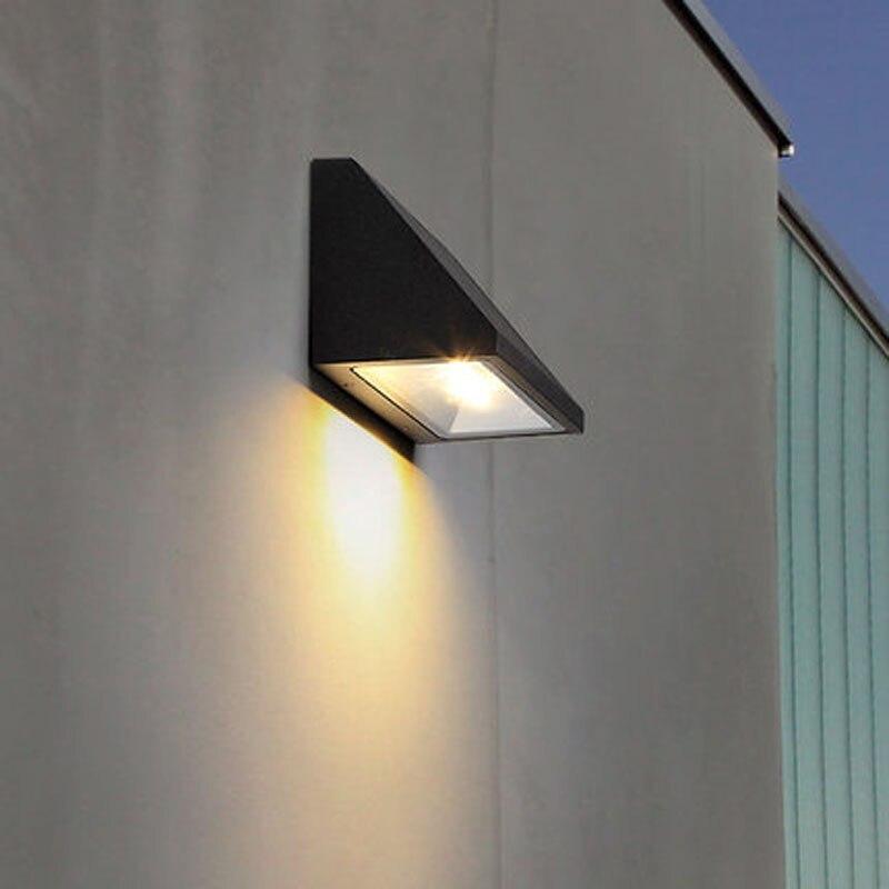 Lampada parete Illuminazione Cortile Garage facciata GIARDINO Lampada ESTERNO LAMPADA vie Bianco
