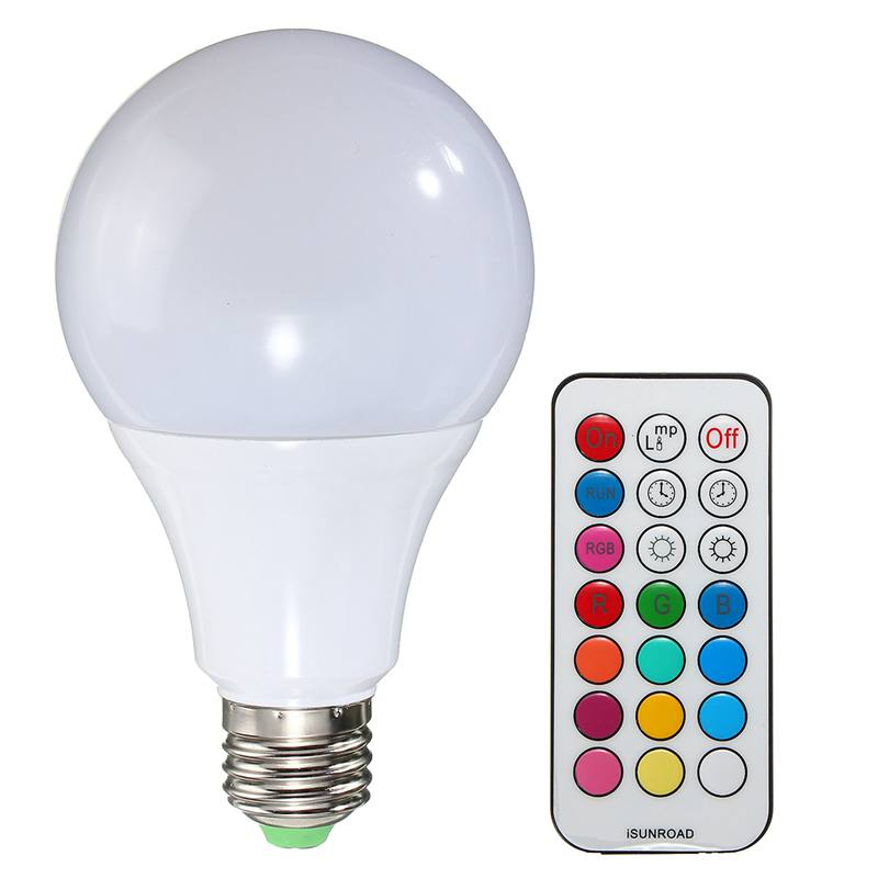 RGB LED Light Bulb E27 / B22 10W 2835SMD/5050SMD Dimmable RGBW Color Changing Lamp Pure White With Remote Control AC85-265V