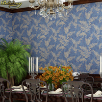 beibehang Retro palm leaf wallpapers for living room decoration southeast asia blue gray wallpaper roll wall paper 3d flooring