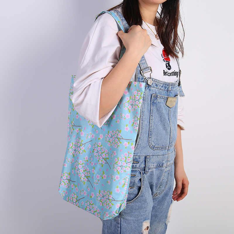 Duża składana torebka sklep spożywczy torba na ramię torby na zakupy składane torby wielokrotnego użytku