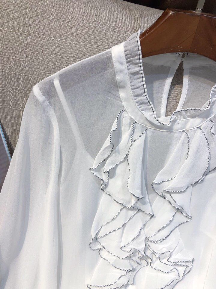 2019 Mode amp; Européenne Luxe De Design D02105 Chemises Vêtements Femmes Marque Piste Blouses Style Partie SrqgrI