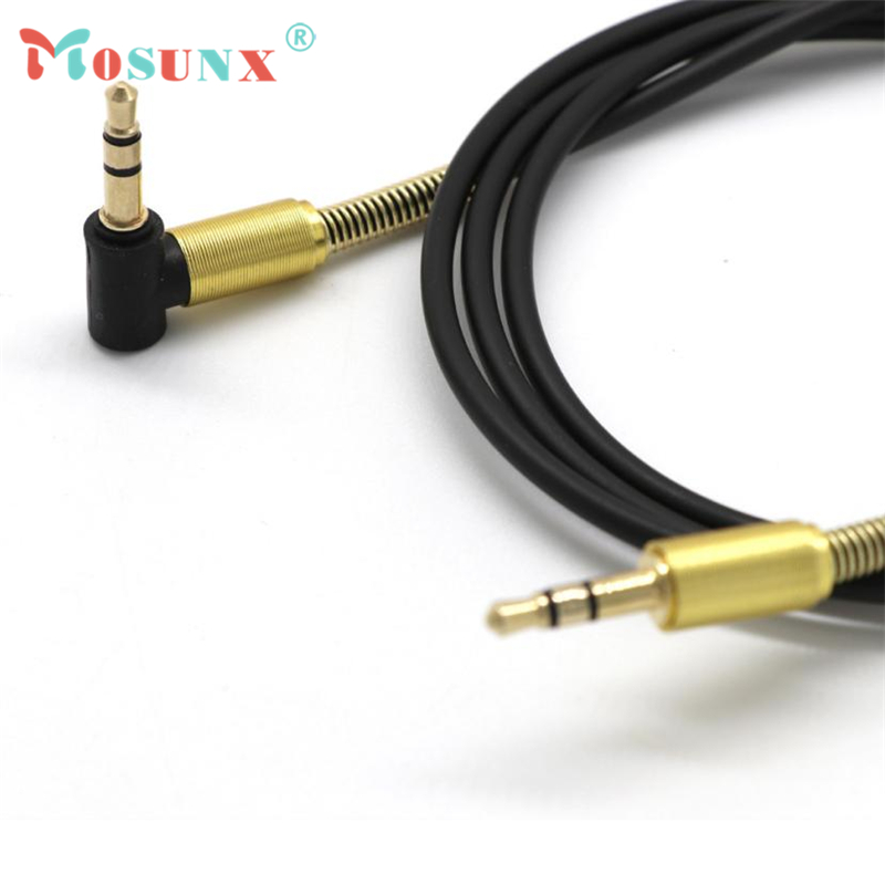 Audio Extension Cable Top Quality 3.5mm Jack Elbow Male to Male Stereo Headphone Car Aux Drop Shipping 17July19 3 5mm male to female stereo jack headphone extension cable 3ft 6ft 16ft aux audio wired cord lead for computer mobile phones