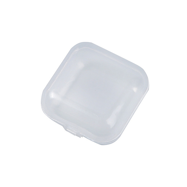 10pcs Mini Transparent Plastic Small Box Jewelry Earplugs Storage Box Container Beads Makeup Transparent Storage Box