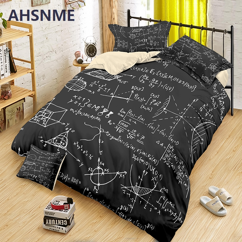 AHSNME Math Knowledge Bedding Set Biological Duvet Cover Sets 2/3pcs King Size For Double Bed Quilt Cover Dropshipping