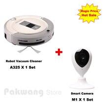Смарт-A325 Робот пылесос УФ стерилизации Selfcharge Автоматическая Aspirador и Смарт-Камеры Ребенка/Pet Монитор для домашнего офиса
