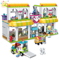 491pcs Friends Heartlake City Pet Rescue Station Building Blocks Compatible Legoed Girls Friends Pets Hospital DIY Bricks Toys