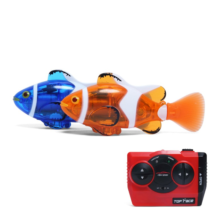 Create Toys 3316 Mini RC Clownfish Remote Control Infrared Fish Radio Toy Blue Orange