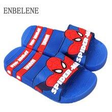 2016 children slippers for girls boys upper pvc rubber cartoon print captain america Iron man spiderman baby kids home shoes