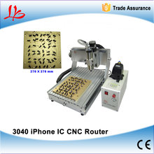 LY IC cnc router cnc 3040 + 10 in 1 mould CNC milling polishing engraving machine for iphone main board repair(China (Mainland))