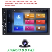 Octa Core 4G+32G PX5 7''android 8.0 car gps navigation radio video player stereo universal 2 din radio car multimedia player gps