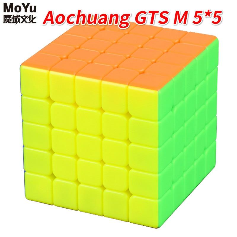 Nouveau MoYu Aochuang GTSM 5x5x5 magnétique sans autocollant magique Cube vitesse Puzzle Cube jouets pour enfants