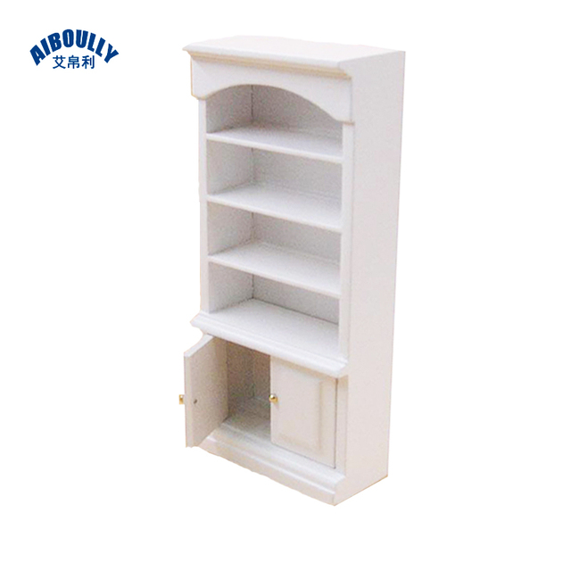 1 12 Dollhouse Doll Furniture White Bookcase Model House Props Accessories Use