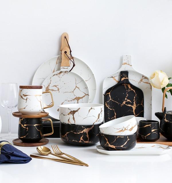 Marble Tableware Set
