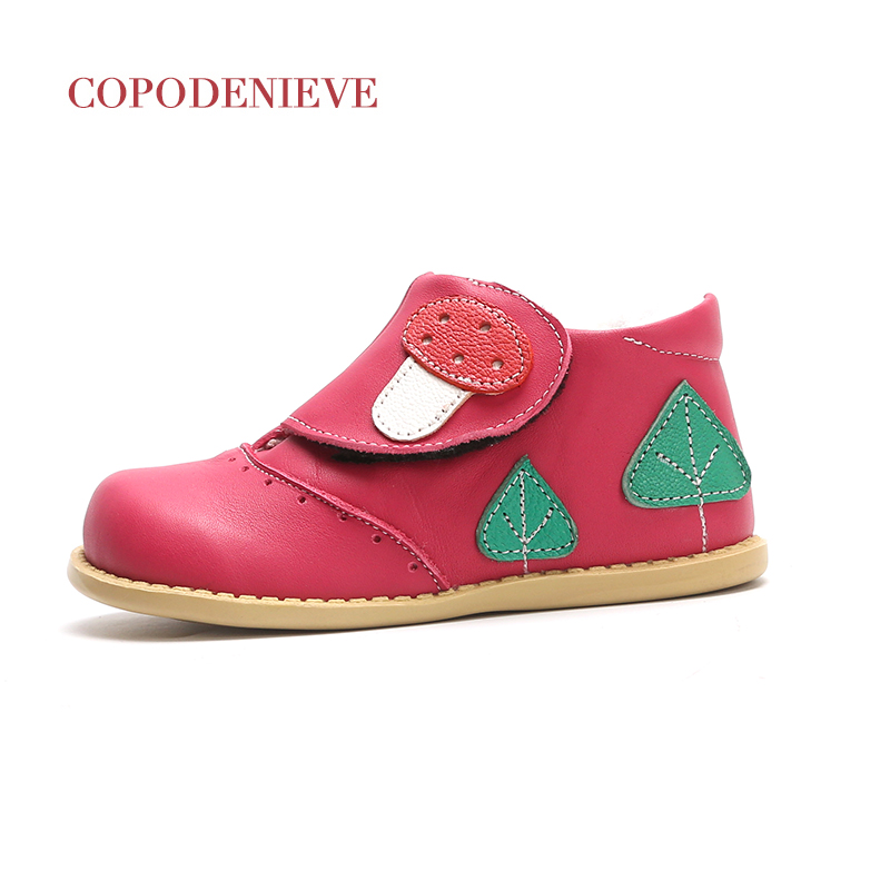 COPODENIEVE Cute Girls Boots 2017 New Fashion Love Kids Shoes Baby Toddler Girls Boots Casual Leather Children Boots ...