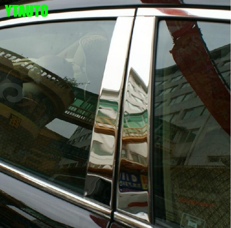 Otomatik orta pencere Toyota Camry 2012-2015 için ayağı döşeme düzeltir, 6 adet / takım, paslanmaz çelik, araba styling aksesuarları
