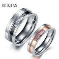 Fashion Stainless Steel Rings For Couple Wedding Engagement Rings Men Women Ring Bijoux Bague Femme Anel Masculino RUIER316