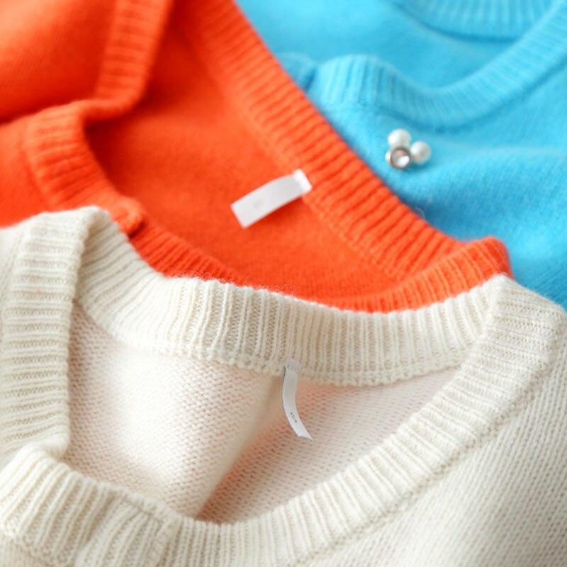 Cashmere Cardigan Female 2018 Pearl Sweater Women 100 Cashmere Outerwear Women Knitwear Long Sleeve Cardigan Invierno