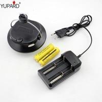 Yupard USB rechargeable SMD LED Camp Tente Lanterne lumière Puissance banque blanc lumière rouge lumière lampe + 2*1800 mAh 18650 batterie + chargeur