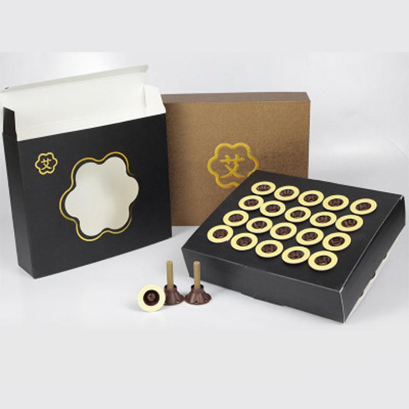 40pcs/box Moxa Paste Moxibustion Stick Moxa Special for Self-stick Moxa Stick