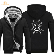 Japan Anime Naruto Uzumaki Naruto Sweatshirt Men Harajuku Hooded Men 2017 Winter Warm Fleece Thicken Hoodies Brand Clothing 5XL
