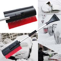 Multifunctional 3 In 1 Extendable Telescoping Car Ice Scraper Shovel Ergonomic Design Snow Brush Clean Tool