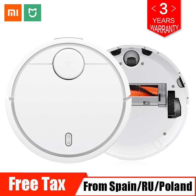 Original Xiaomi Mi Robot Vacuum Cleaner for Home Automatic Sweeping Dust Cleaner Smart Planned WIFI Mijia APP Remote Control