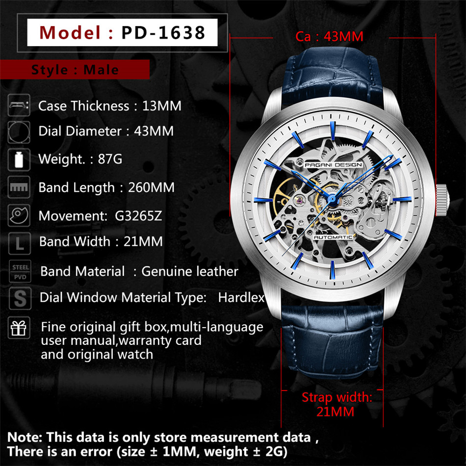 HTB14b4bafjsK1Rjy1Xaq6zispXaq 2019 PAGANI DESIGN Brand Fashion Leather Gold Watch Men Automatic Mechanical Skeleton Waterproof Watches Relogio Masculino Box