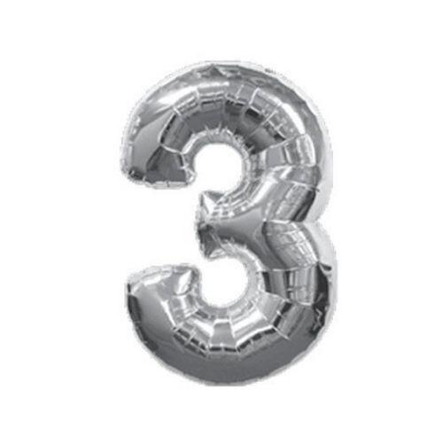 40 дюймов семизначный номер Фольга Шарики гелием воздушный шар надувной шар Festa брак годовщина свадьбы партия Серебряный 3