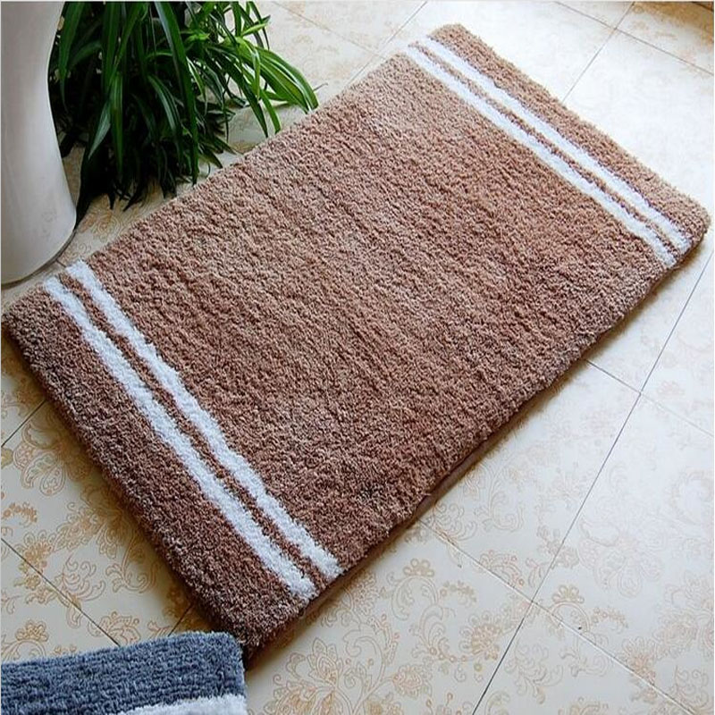 Charming 53cm*86cm Acrylic Stripe Home Carpet ,Modern Kitchen Washable Rugs, Backing  Latex Acrylic