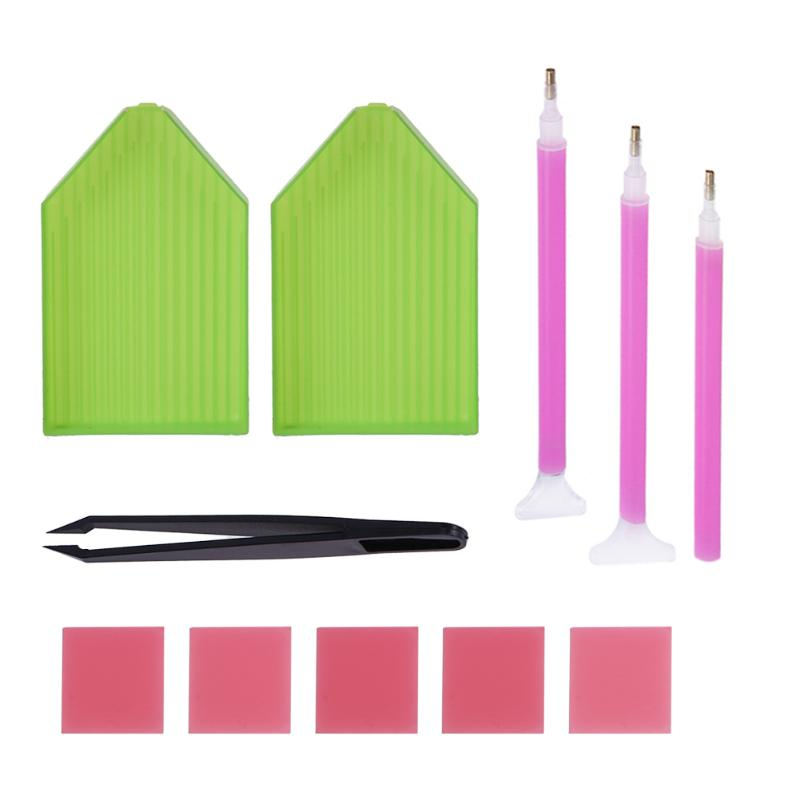 Diamond Mosaic Diamond Embroidery Tweezers/pen/glue/plastic Tray Set DIY Diamond Painting Cross Stitch Sewing Accessories Tool