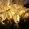 Fairy String Light Wooden Craft Heart 2 5M 10 LED Battery Operated Fairy Lights Christmas Window