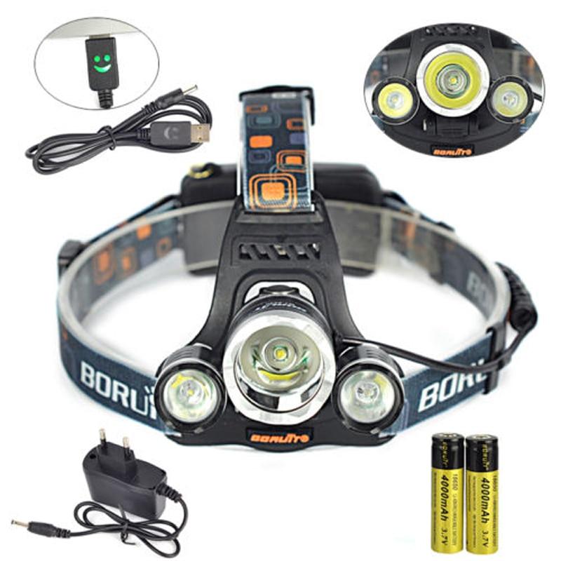 Boruit 8000Lm 3x XML T6 LED Headlamp Headlight Torch USB Lamp+2X 18650 +Charger Bicycle Cycling Bike Camping Portable Torchlight sitemap 57 xml