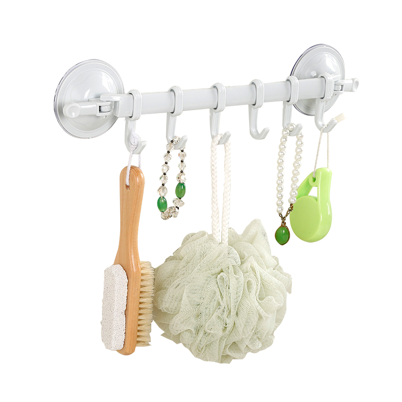 Zhangji Handy Suction Cup Plastic Bathroom Shelf Towel Bathroom Corner Shelves Wall Shelf Storage Holder Rack Hook