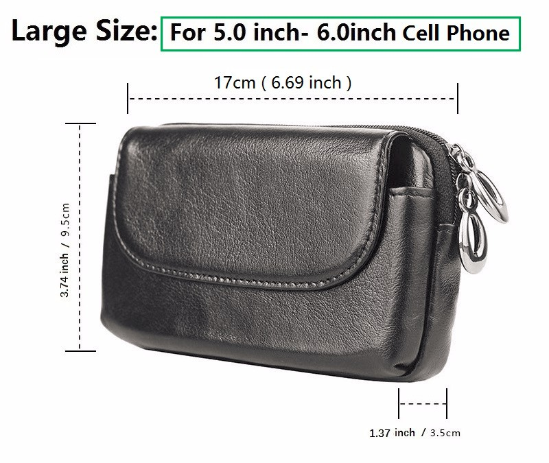 real leather cell phone belt pouch