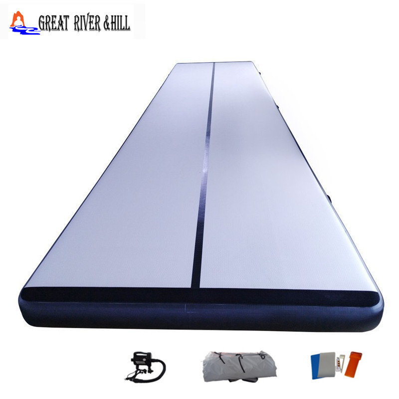 US $424 0 |new color inflatable air track cheap tumbling track for exercise  gymnastic flooring with free pump for sale 4m x 1m-in Gymnastics from