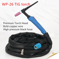 High quality black hose WP-26 WP 26 TIG-26 Tig Torch Complete Package 5M 16Feet with M16 x 1.5mm 26 Series welding machine parts