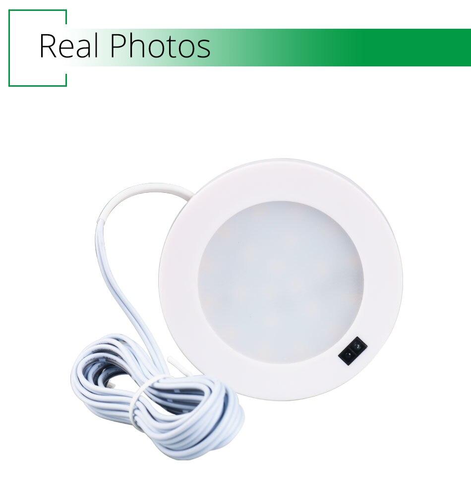 21PCS Under Cabinet Lamps 3W Motion Sensor IR Silver Round LED Puck Counter Led Lights Closet Cupboard Wardrobe Locker Lighting (3)