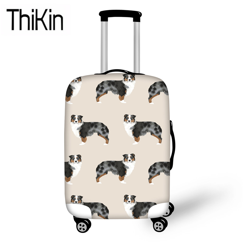 THIKIN German Shepherd Printing Travel Accessories Dustproof Luggage Covers For Suitcase Elastic Travel Trolley Case Protective
