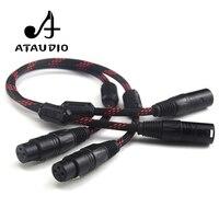 ATAUDIO 1 Pair Hifi 2 XLR Male to Female Balance Audio Cable High performance 3 Pin XLR Connectors Microphone XLR Cable