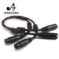 ATAUDIO 1 paire Hifi 2 XLR mâle à femelle Balance câble Audio haute performance 3 broches XLR connecteurs Microphone XLR câble