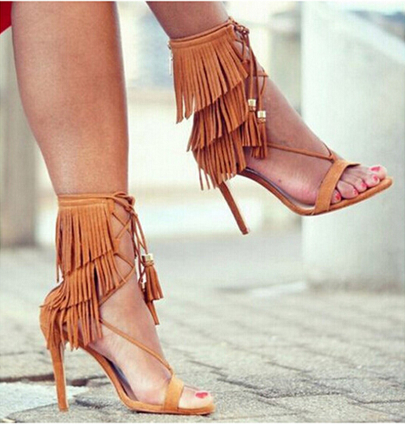 Popular Lace up Heels Fringe-Buy Cheap Lace up Heels Fringe lots