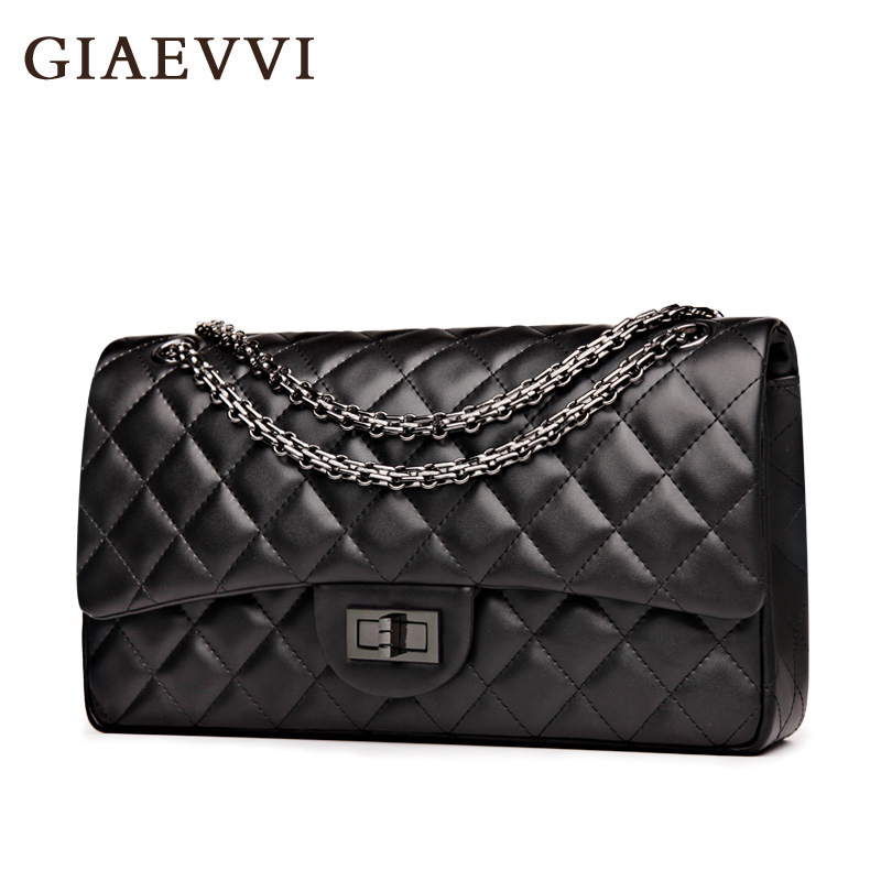 GIAEVVI women messenger bags 2017 split leather shoulder bag luxury handbags women crossbody bags designer handbags high quality giaevvi luxury handbags split leather tote women messenger bags 2017 brand design chain women shoulder bag crossbody for girls